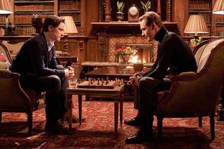 Charles and Erik play a friendly game of chess   20th Century Fox X Men First Class Magneto And Charles